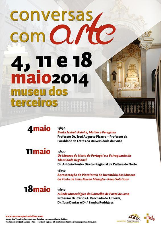 Cartaz Conversas Com Arte 2014