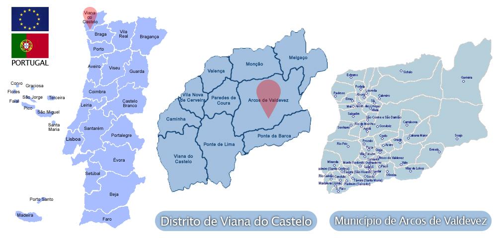 arcos de valdevez mapa Arcos de Valdevez   Viver Viana, tudo sobre o Alto Minho arcos de valdevez mapa
