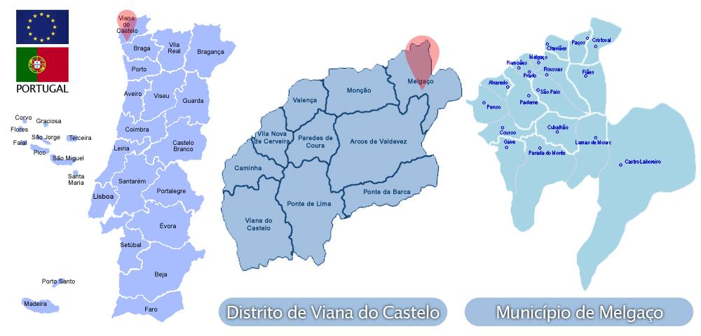 mapa melgaco Melgaço | Viver Viana, tudo sobre o Alto Minho mapa melgaco