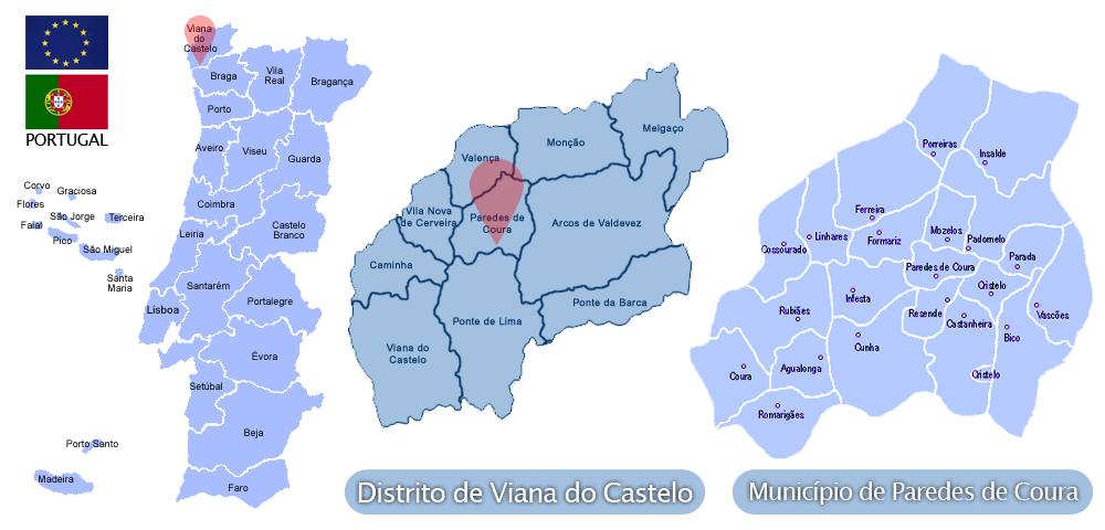 Mapa Paredes De Coura Mapa