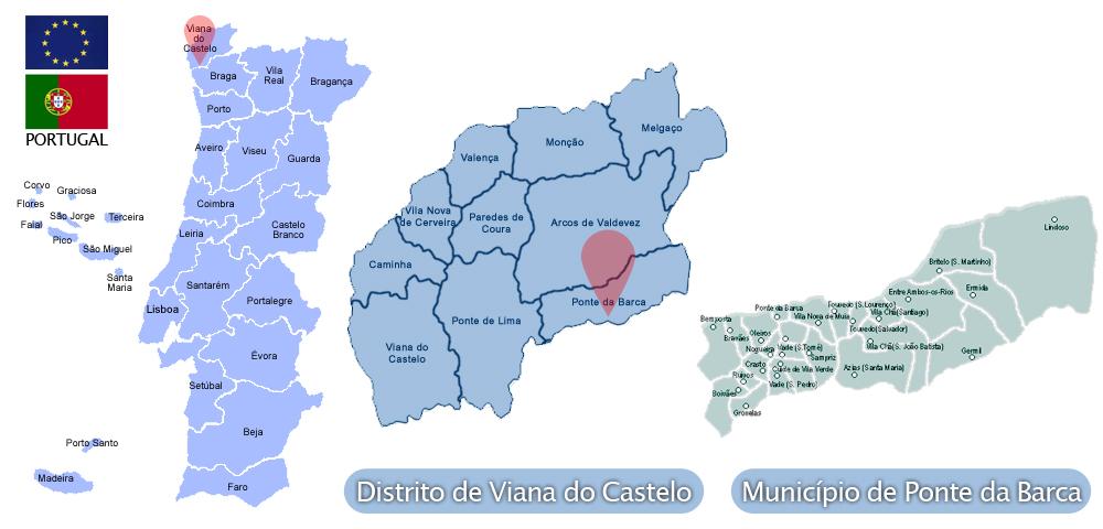 mapa de portugal ponte da barca Ponte da Barca | Viver Viana, tudo sobre o Alto Minho mapa de portugal ponte da barca