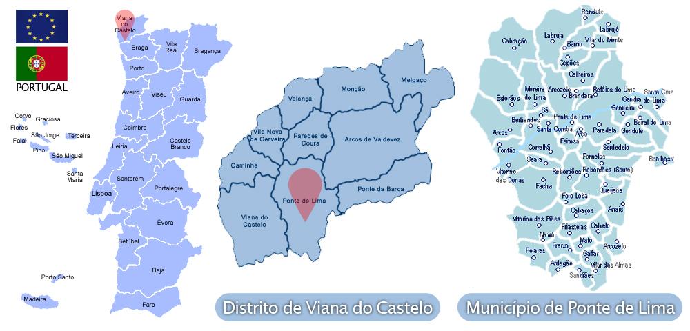 ponte de lima mapa Ponte de Lima | Viver Viana, tudo sobre o Alto Minho ponte de lima mapa